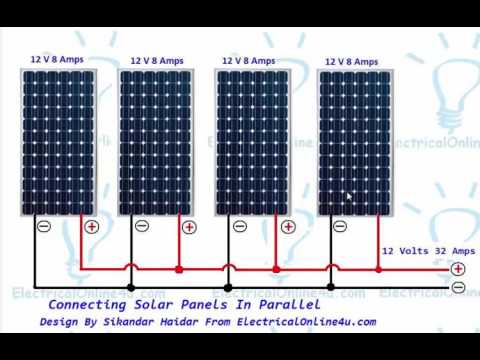 Connecting Solar Panels In Parallel Connection