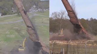 Pell City (AL) United States  city images : Pell City smokestack collapses on excavator