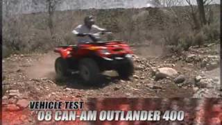 9. ATV Television Test - 2008 Can Am Outlander 400
