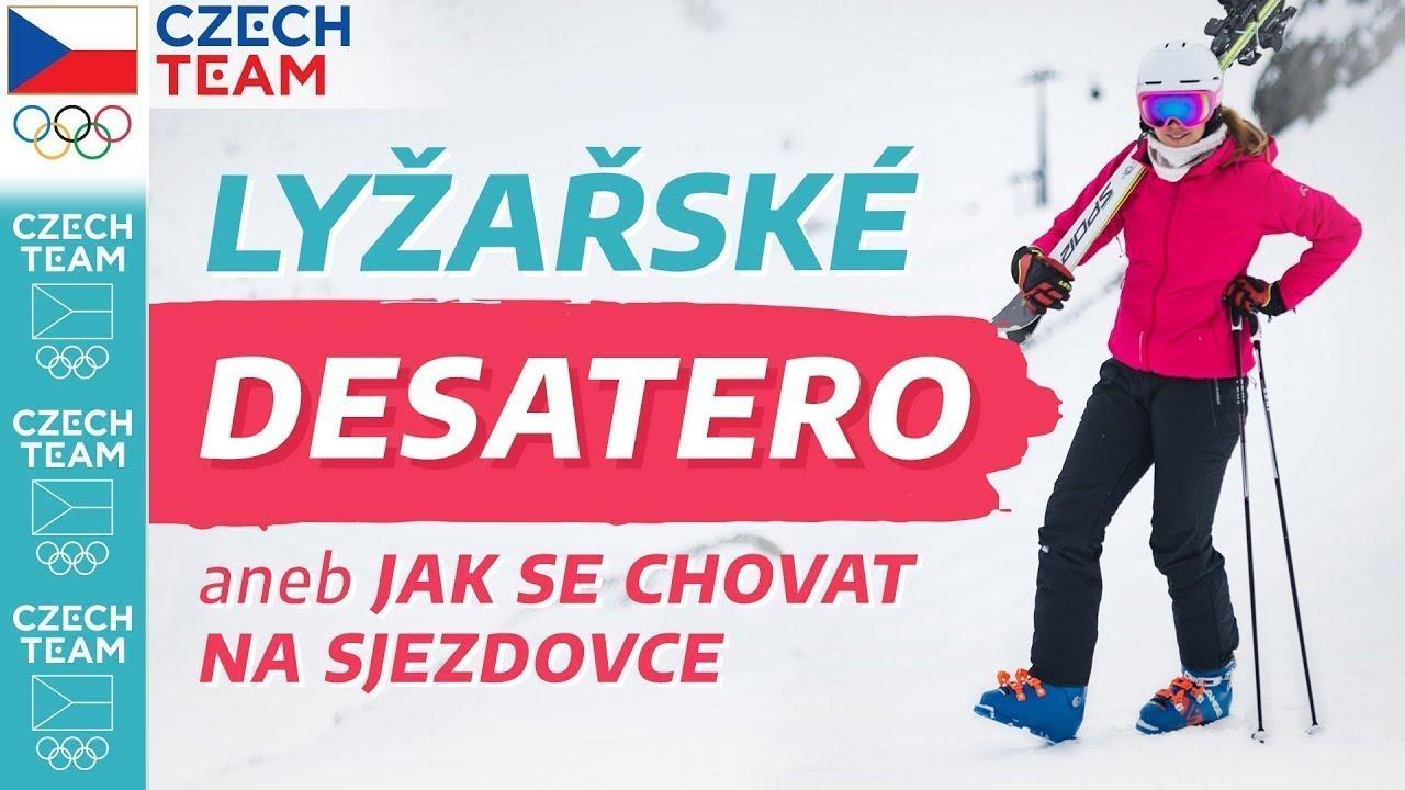 LYŽAŘSKÉ DESATERO⛷⛔ Jak se nezabít na lyžích (a na snowboardu)