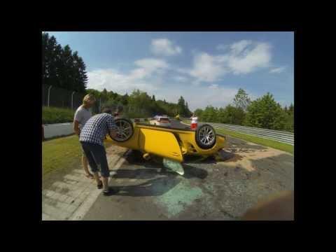 Camera captures Porsche flipping, crashing