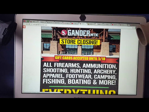 Gander Mountain Files for Bankruptcy and Going out of Business!
