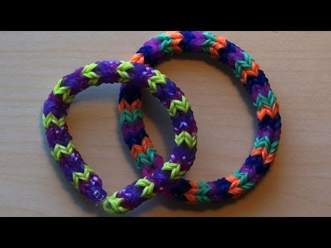RAINBOW LOOM QUADRAFISH – Faster than Hexafish, Uses 4 pegs vs 6