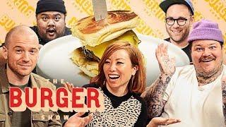 Video Sean Evans, Matty Matheson, and Miss Info Judge a Stunt Burger Showdown | The Burger Show MP3, 3GP, MP4, WEBM, AVI, FLV Oktober 2018