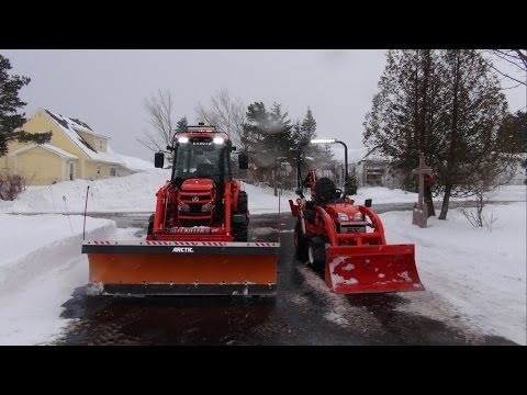 Me, wifey,the Kubota BX25D & 5740 snow clearing