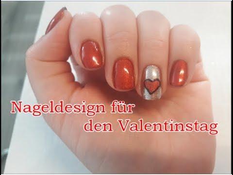 Valentinstag Nageldesign  valentines day nailart  shellac
