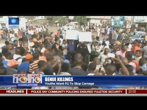 Youths Protest In Benue Over Death Of 33 Persons Pt.1 |News@10| 03/01/18