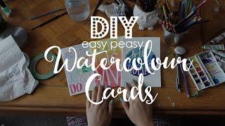 DIY, easy peasy, Watercolour Cards