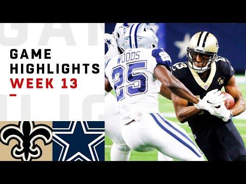 Saints vs. Cowboys Week 13 Highlights | NFL 2018