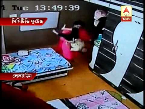 tutor - SHOCKING VIDEO: 3-year-old kid brutally beaten by home tutor in Kolkata.