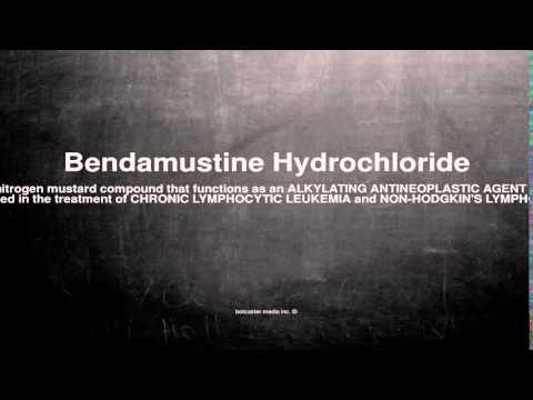 Medical vocabulary: What does Bendamustine Hydrochloride mean