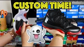 PREMIUM AIR JORDAN DIRTY BRED 11 CUSTOM TIME-LAPSE + 72-10 11 GIVEAWAY!