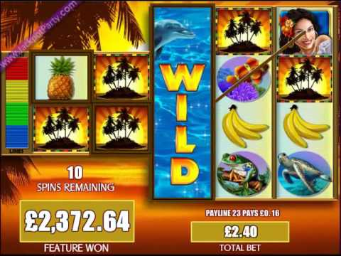 £6015.84 MEGA BIG WIN (2506 X STAKE) FORTUNES OF THE CARIBBEAN ™ BIG WIN SLOTS AT JACKPOT PARTY