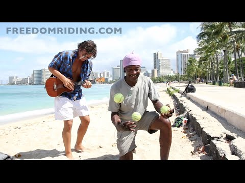 jawaiian - Aspiring musician from California, Jonathan Michelsen and Ynot (Tony) jamming in Waikiki, Oahu. Filmed by Nathan Thomas Carl.
