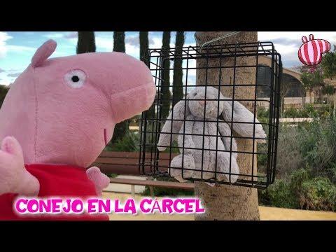 Peppa Pig libera a un conejo de la cárcel  Vídeos de Peppa Pig en español