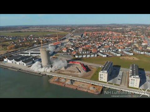 Dänemark: Sprengung geht schief - 53 Meter fallen in  ...