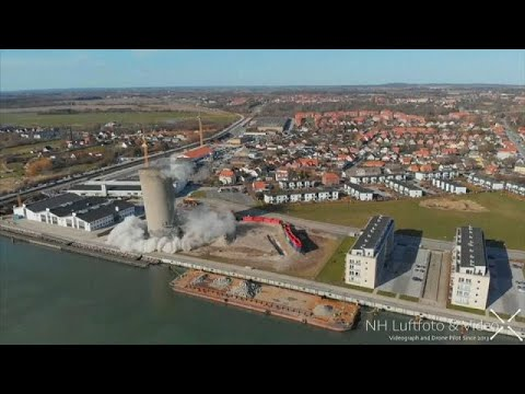 Dänemark: Sprengung geht schief - 53 Meter fallen i ...