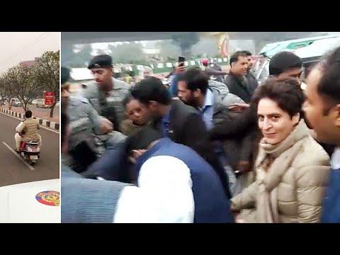 Priyanka Gandhi alleges manhandling, UP Police deny allegations