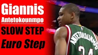 Giannis Antetokounmpo Eurostep - How To: Best Basketball Moves - Basketball Scoring Moves | Snake