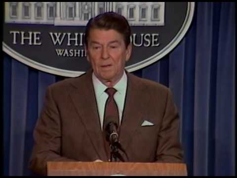 President Reagan's Remarks at a mini-Press Conference in the Press Room on April 4, 1985