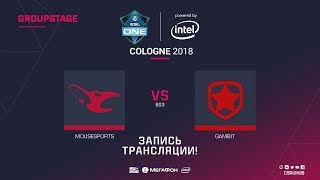 mousesports vs Gambit - ESL One Cologne 2018 - de_dust2 [GodMint, Anishared]