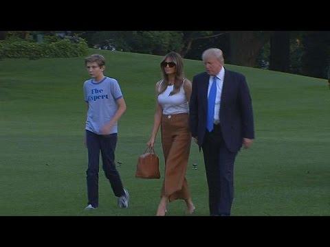 Μετακόμιση Μελάνια και Μπάρον Τραμπ στον Λευκό Οίκο