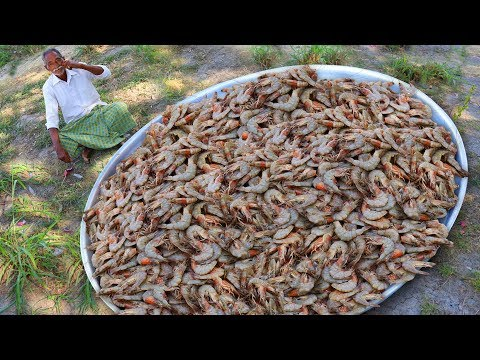 Shrimp Fried Rice | Yummy Shrimp Fried Rice For 100 Children | Prawn Fried Rice by Grandpa