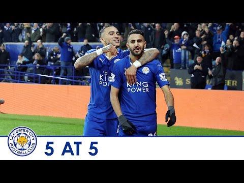 5 at 5 | Five best goals from Riyad Mahrez 2015/16