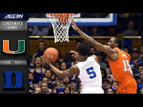 Miami vs. Duke Condensed Game | 2018-19 ACC Basketball