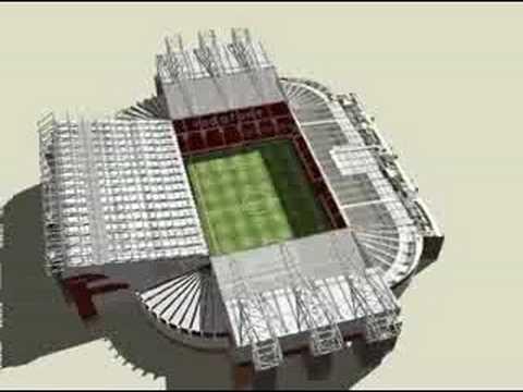 Animación de Old Trafford en 3D