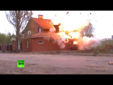 Rosjanie wysadzili dom, który był nielegalnym meczetem.