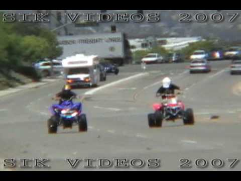 Banshee 400 STROKED vs. Yamaha Raptor 700 TURBO (ATV STREETRACE)