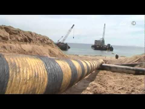 Cách thức thi công cáp ngầm xuyên biển cấp điện cho Lý Sơn