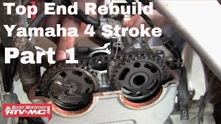 6. Motorcycle Top End Rebuild on Yamaha Four Stroke (Part 1 of 2)
