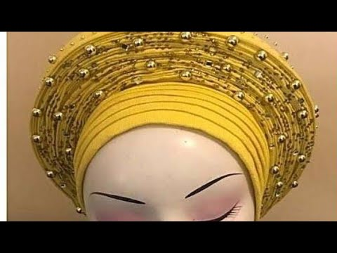 How To Make The Basic Auto Gele And Apply Rhinestones