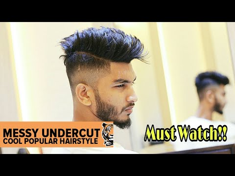 New hairstyle - Messy Undercut  Cool Popular Hairstyle  Barber Skills # New 2018