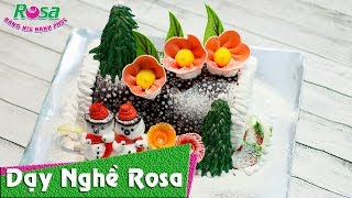 Bánh kem sinh nhật mùa Noel: Mẫu khúc cây giáng sinh