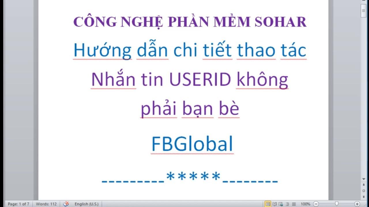 Hướng dẫn nhắn tin tự động đến danh sách UserID bất kỳ bằng Auto Facebook FBGlobal