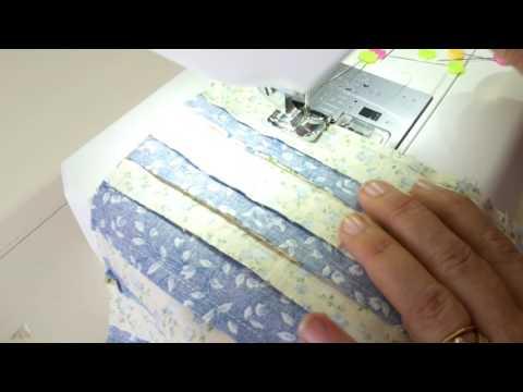 patchwork - splendido blocco con motivo millerighe