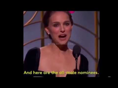 Natalie Portman Throw Shade The  All Male  Directors Category at Golden Globes 2018