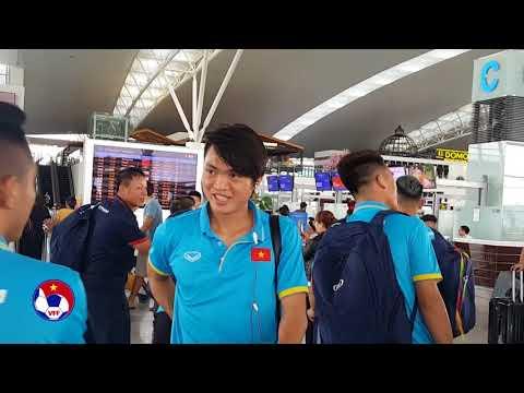 ĐTVN đã tới Campuchia, chuẩn bị cho cuộc chạm trán đội chủ nhà tại Vòng loại Asian Cup 2019