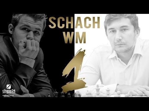 Schach WM 2016: Carlsen - Karjakin Partie 1 Schach WM ...