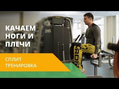 Сплит-тренировка. Качаем ноги и плечи. Еnеrgу Lifе NL - DomaVideo.Ru