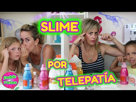 SLIME POR TELEPATIA!! TWIN TELEPATHY SLIME CHALLENGE!! TWINS VS DIVERTIGUAY