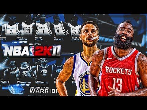 2018 West Conference Finals on NBA 2K11? Golden State Warriors vs Houston Rockets