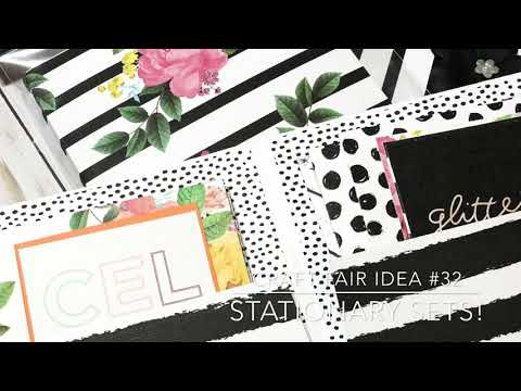 Craft Fair Series 2018-Stationary Sets With Folder!