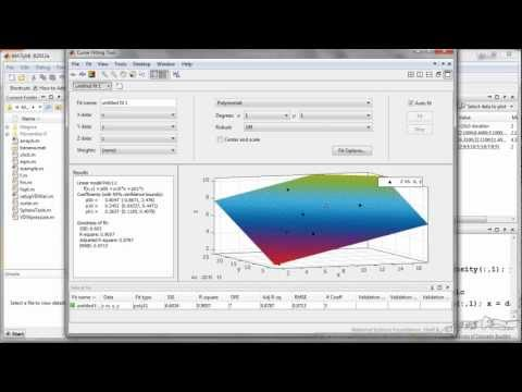 Model Fitting and Regression in MATLAB