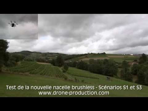 Stabilisation d'images drone avec nacelle brushless