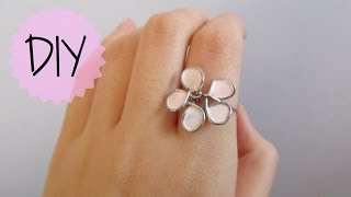 DIY: Flower Wire Ring - YouTube