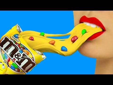 9 Edible Candy Slime Pranks! Prank Wars! (видео)